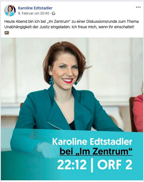 """Karoline Edtstadler: Die ehem. Richterin, jetzt Kabinett Kurz, verkündet ihr Urteil zur Justiz """"im Zentrum"""""""