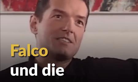 Auf dem Foto erkennt man den österreichischen Ausnahmekünstler Falco, der sich offen gegen rechte Parteilinien aussprach.