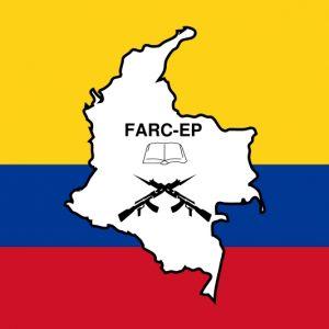 Auf dem Bild erkennt man das Symbol der Guerilla-Kämpfer FARC-EP. Diese Gruppierung steht im Zusammenhang mit Drogen und Gewalt.