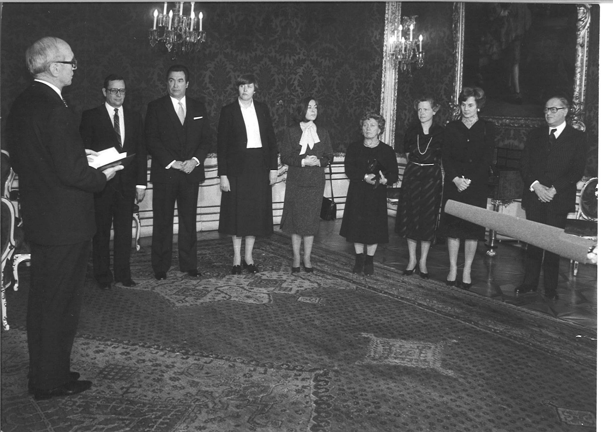 Angeblobung der Regierung Kreisky bei Bundespräsident Rudolf Kirchschläger 1979