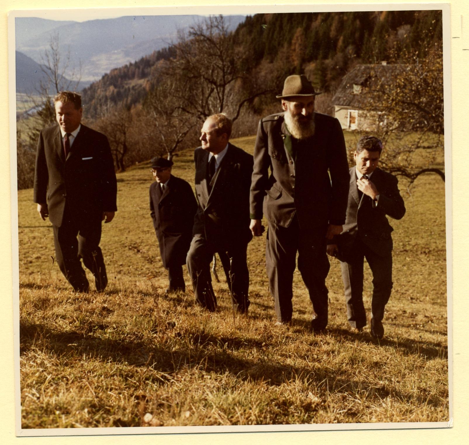 Besuch auf einem Bergbauernhof in Pöls 1970