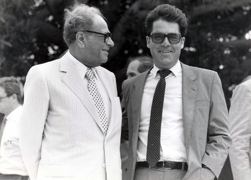 Bruno Kreisky und Heinz Fischer, ca. 1980