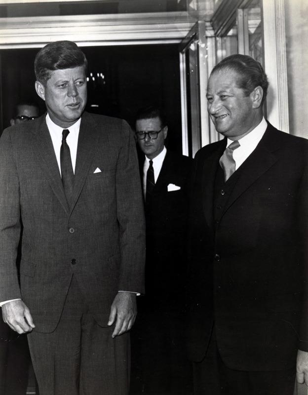 Bruno Kreisky mit John F. Kennedy, 1962