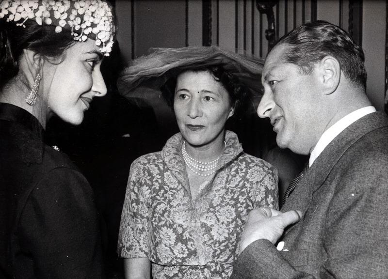 Bruno Kreisky im Gespräch mit Maria Callas