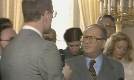 Bundeskanzler Bruno Kreisky wies einen ORF-Reporter zurecht. Lernen S'Geschichte!