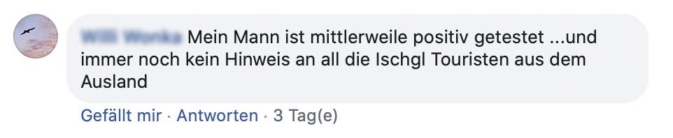 Angehörige von Erkrankten informierten das Land Tirol sogar auf Facebook über die Corona-Erkrankung.