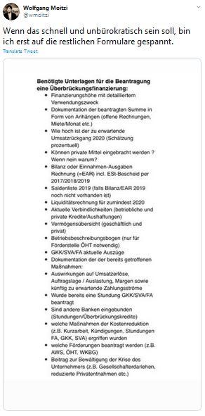 Hilfspaket Corona Österreich