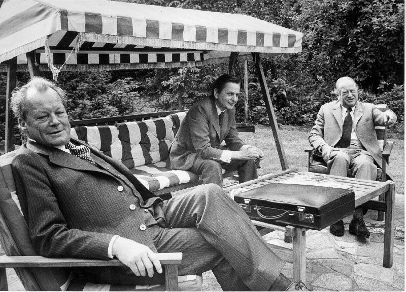 Willy Brandt, Olof Palme und Bruno Kreisky, 1975 Foto: Votava