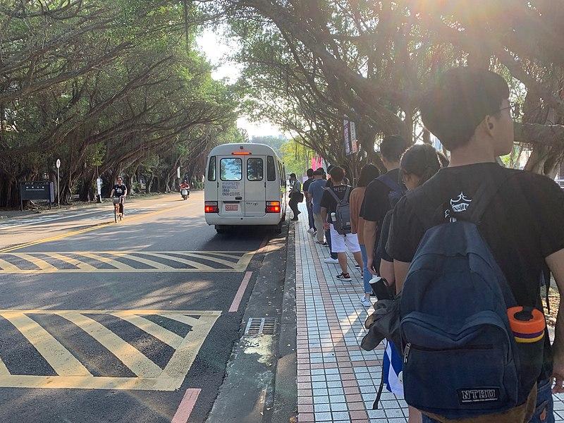 Taiwan Coronavirus frei: Bus bringt Menschen zur Schule