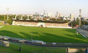 Das Foto zeigt das neu renovierte Stadion des First Vienna FC an der Hohen Warte.
