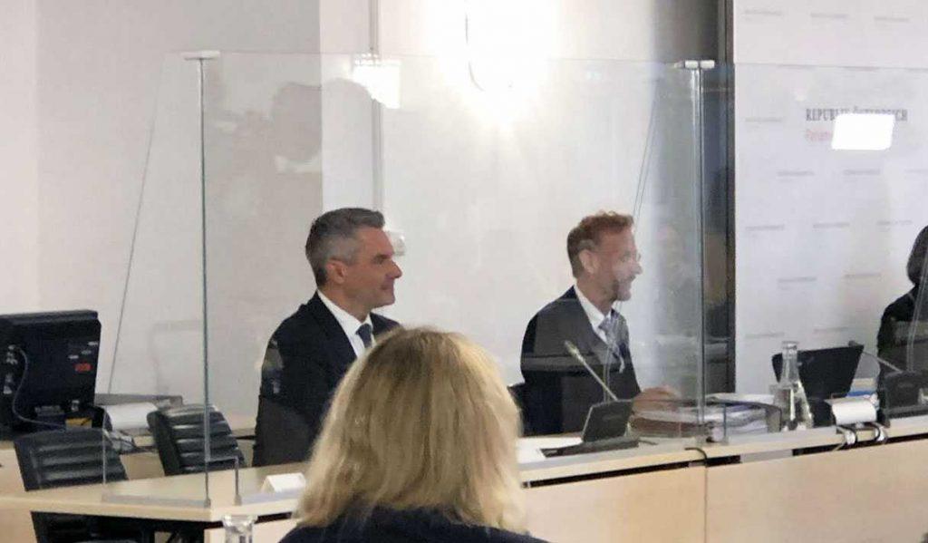 Karl Nehammer im Untersuchungsausschuss