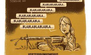 Budweiser-Cartoon zu Verteidigunsministerin Tanner