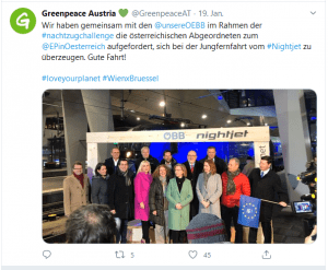 Bahn Österreich ÖBB Nachtzug Matthä europaweit vorreiter lkw konkurrent
