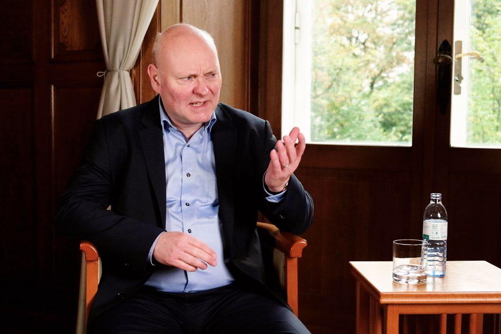 Weiteres Bild von Achim Truger im Interview vor der Preisverleihung des Kurt Rothschildpreis 2020