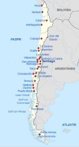 Chile-Karte von Wikipedia