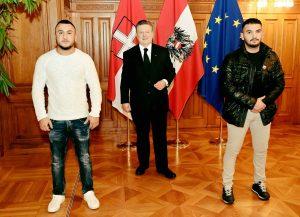 Terroranschlag in Wien: Helfer mit Ludwig