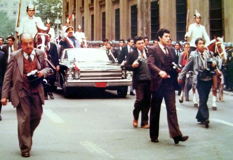 Pinochet in Chile, seine Verfassung ist Grund des Referendum 2020