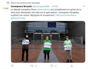 EU-Abgeordneter Hungerstreik EU-Budget EU-Kommission Finanztransaktionssteuer EU