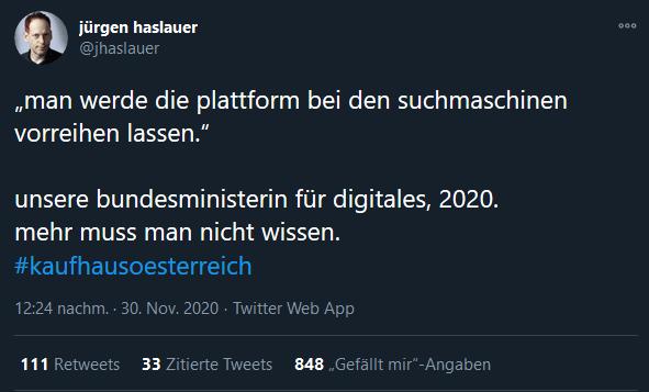 Jürgen Haslauer - Kaufhaus Österreich und die Suchmaschinen