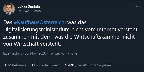 Lukas Sustala - Kaufhaus Österreich