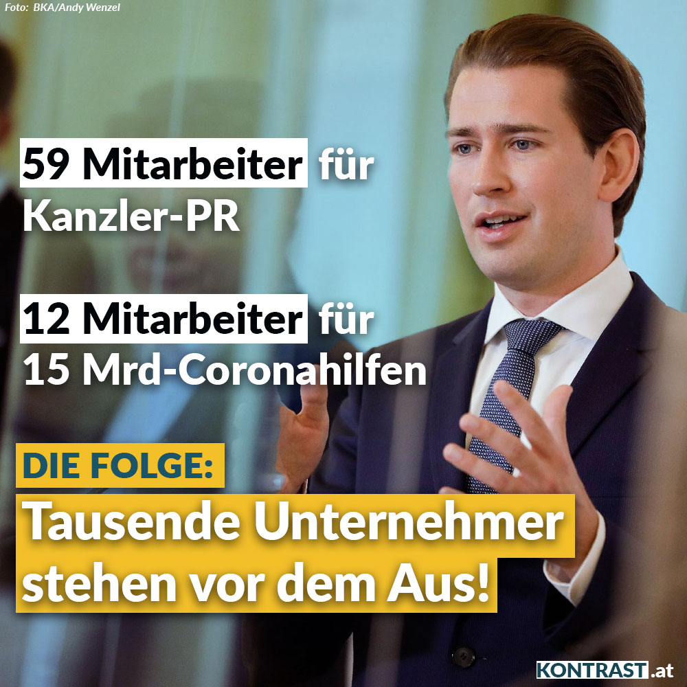 alle corona-massnahmen und fehler in österreich: PR-Ausgaben
