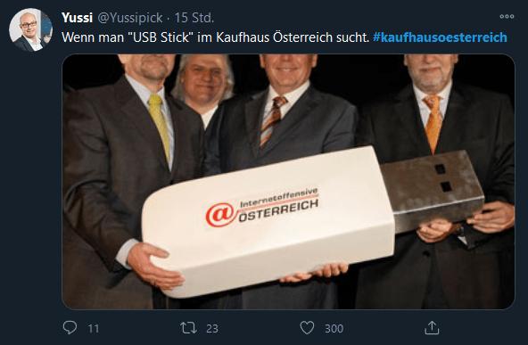 Yussi Pick - Kaufhaus Österreich