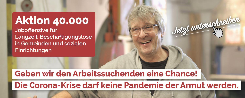 Aktion 40.000 unterschreiben