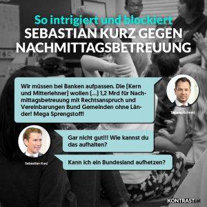 Sebastian Kurz Thomas Schmid ÖVP Chat Kindergärten Nachmittagsbetreuung chats