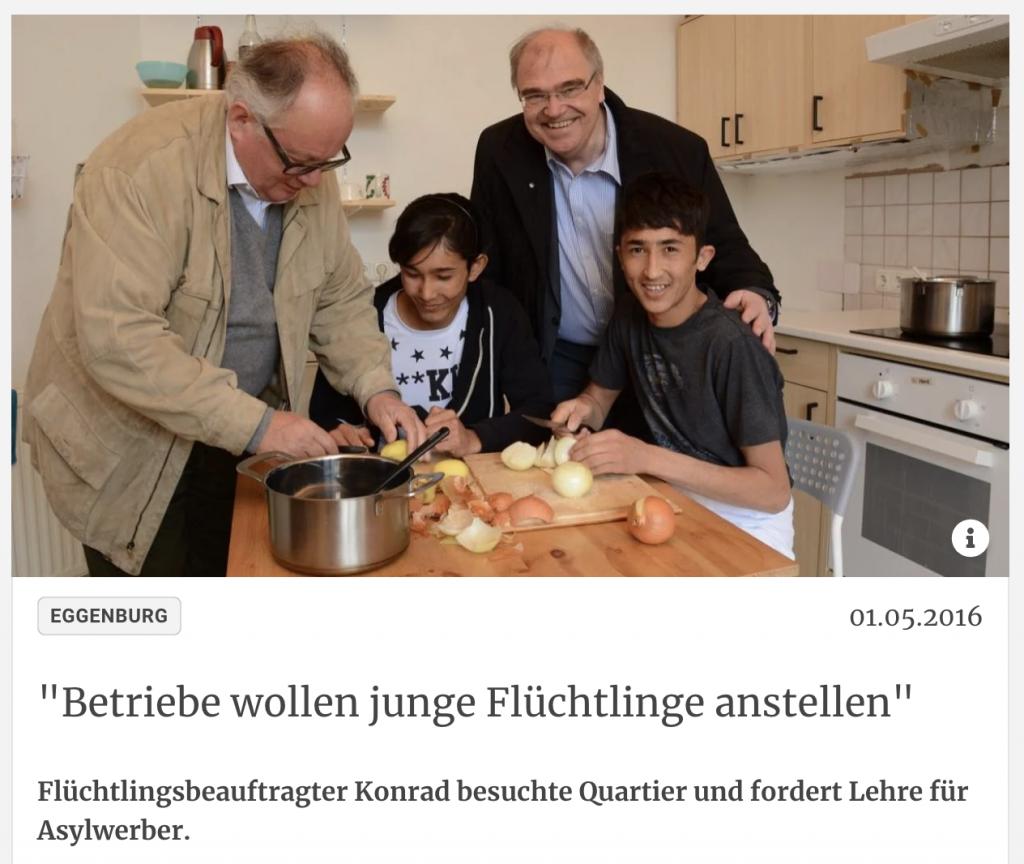 gegen Abschiebung von Lehrling aus Österreich: Brandstetter, Konrad mit Abdullah