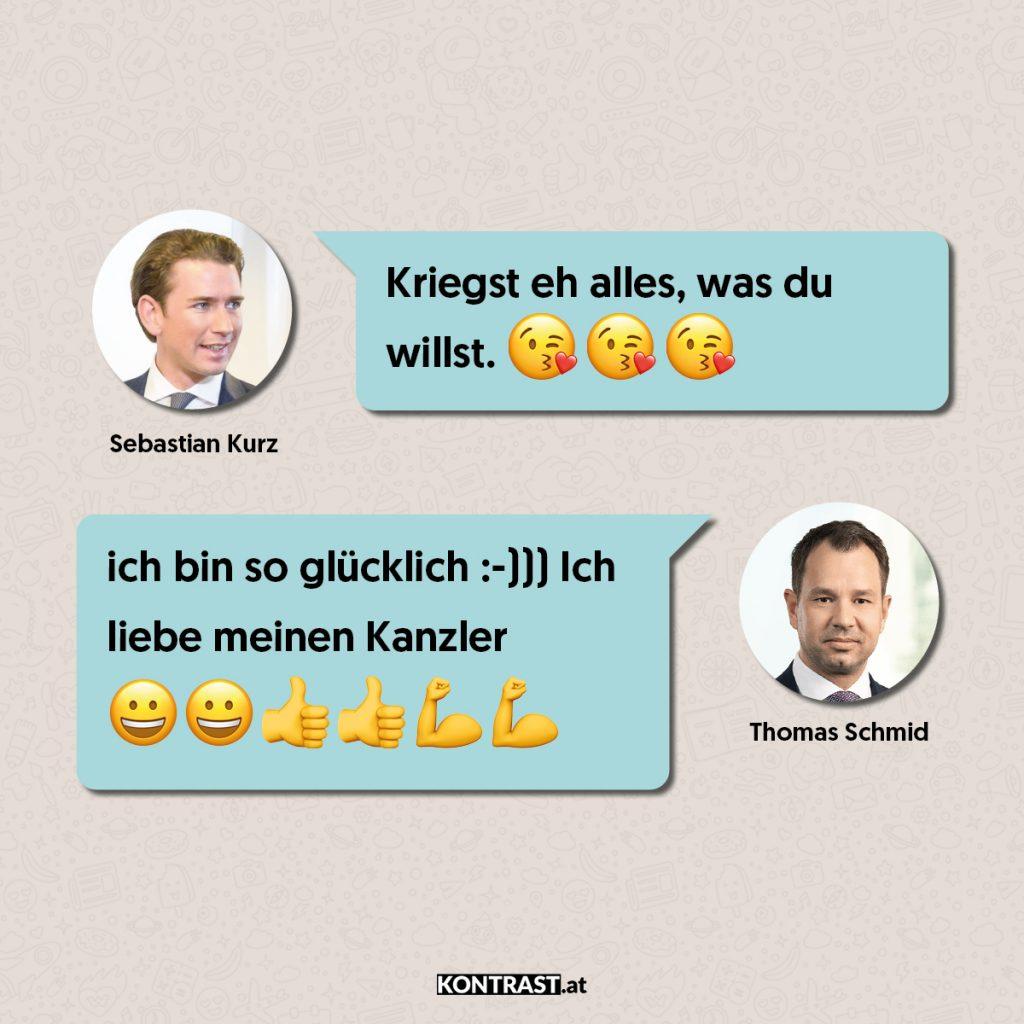 Thomas Schmid Chats: Wieder Kurz und Schmid