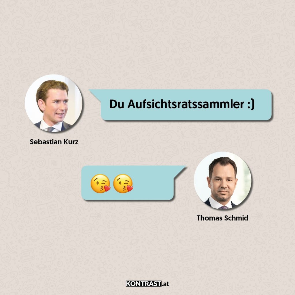 Thomas Schmid Chats Auszug zwischen Schmid und Kurz