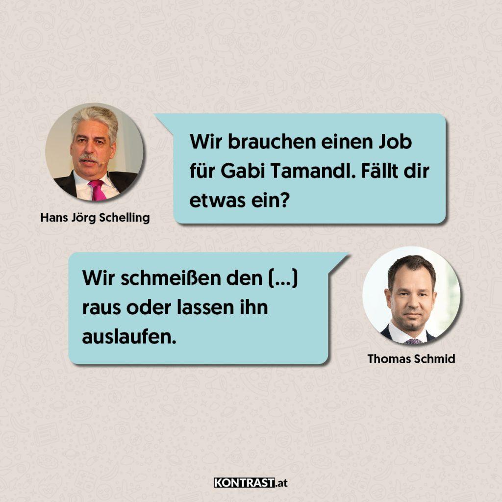Thomas Schmid Chats: Schelling und Schmid über mögliche Kündigungen