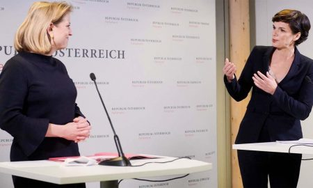 Beate Meinl-Reisinger und Pamela Rendi-Wagner (Foto: neos)