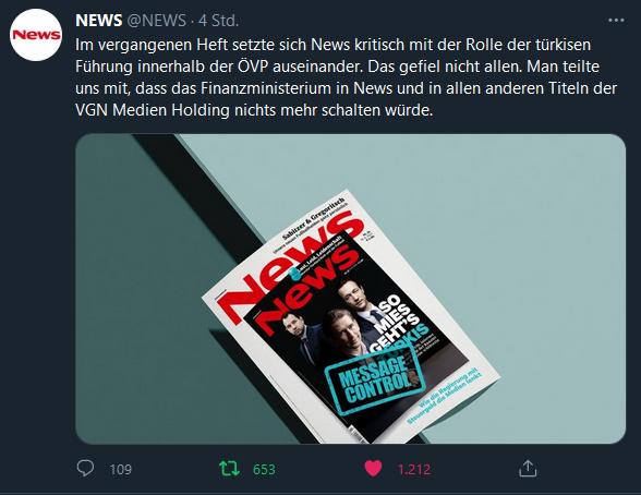 Medien und ÖVP-Einfluss: Inserate-Stopp nach Kritik an Türkis
