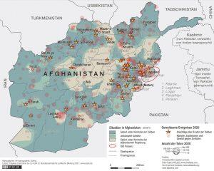 afghanistan geschichte zusammenfassung; karte von kampfhandlungen 2020