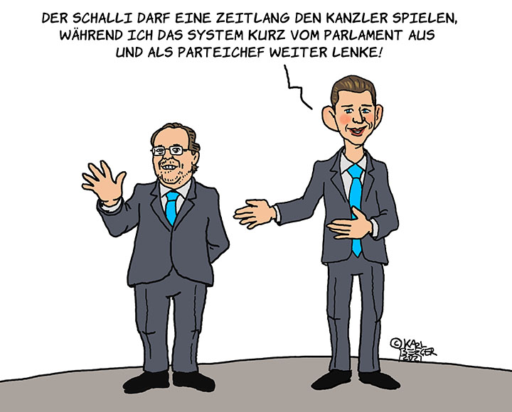 Schallenberg wird Kanzler, Kurz bleibt an der Macht
