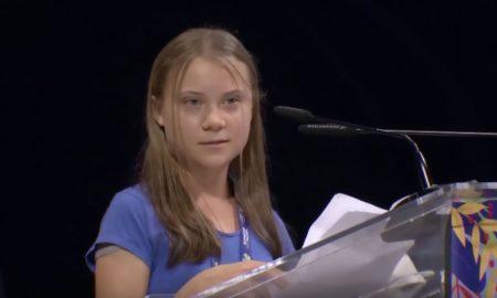 Greta Thunberg bei ihrer Bla Bla Bla Rede