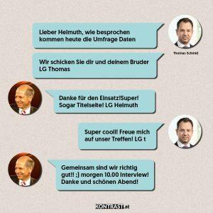 Chat-Protokoll Thomas Schmid u Helmuth Fellner - ÖVP-Hausdurchsuchung