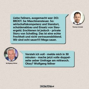 Chat-Protokoll Thomas Schmid u Wolfgang Fellner - ÖVP-Hausdurchsuchung