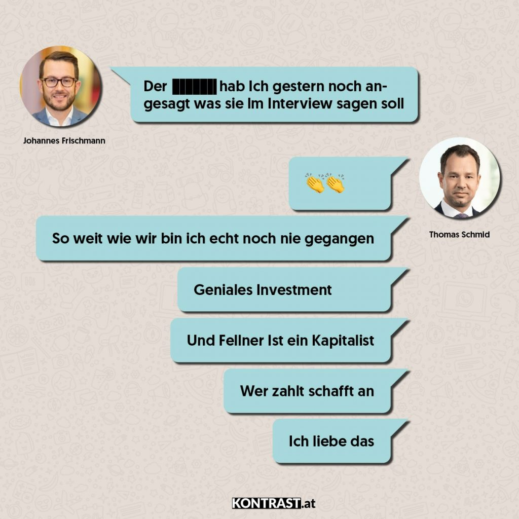 Chat-Protokoll Thomas Schmid u Johannes Frischmann - ÖVP-Hausdurchsuchung